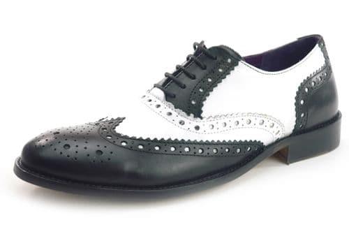 Frank James Redford 1649 Black / White Shoes